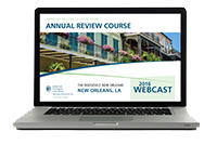 Annual Review Course Webcast (2016)