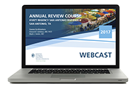 Annual Review Course Webcast (2017)