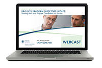 Urology Program Directors Update: Teaming with Your Program Coordinator for Success Webcast